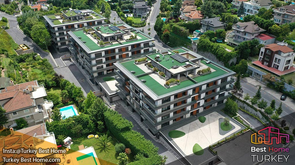 آپارتمانهای لوکس آناتولی استانبول در منطقه ثروتمند بیکوز Beykoz