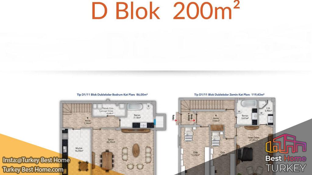 فروش آپارتمانهای لوکس بزرگ در منطقه بیلیکدوزو  Beylikduzu