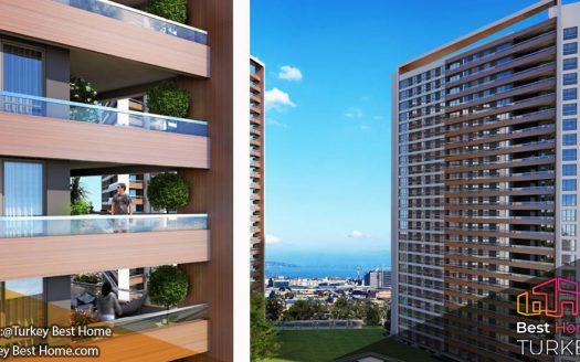 آپارتمانهای لوکس و کلیدی آماده برای فروش در مرکز شهر استانبول املاک مدرن ترکیه در بایرامپاشا