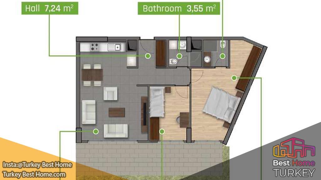 فروش آپارتمان با نمای جنگل در کمربورگاز kemerburgaz