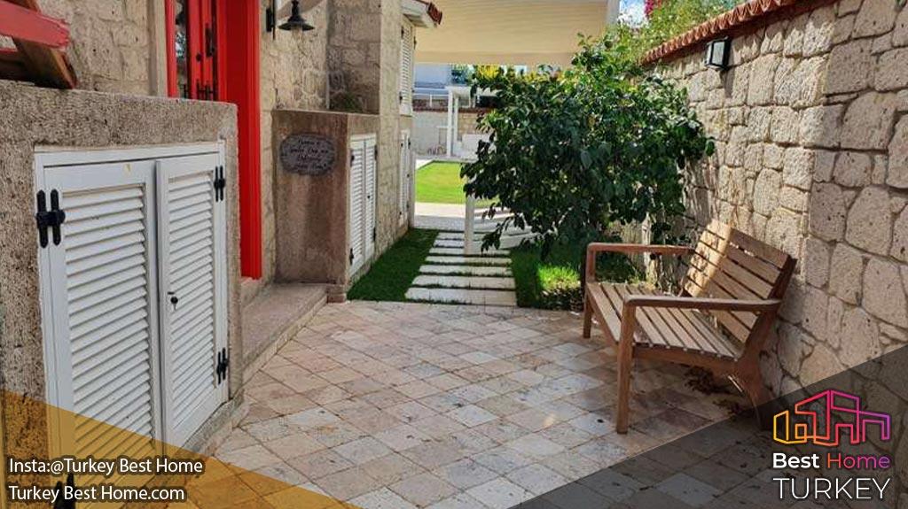 ویلا سنگی 4 خوابه با استخر خصوصی و سنتی آلاچاتی Alacati