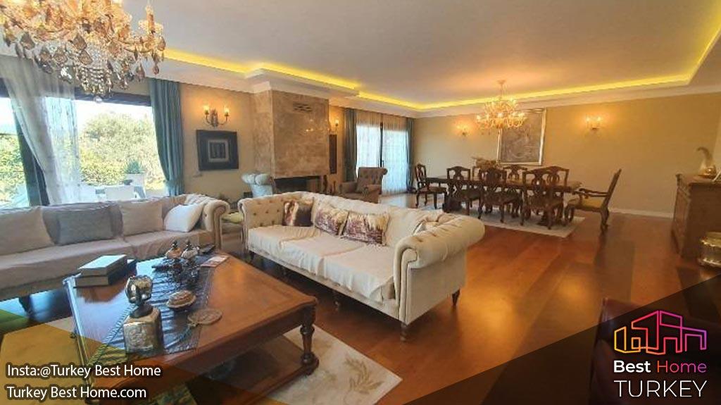 فروش ویلا 6 تخته خوابه در اورلا Urla ازمیر برای در یک قطعه خصوصی عظیم