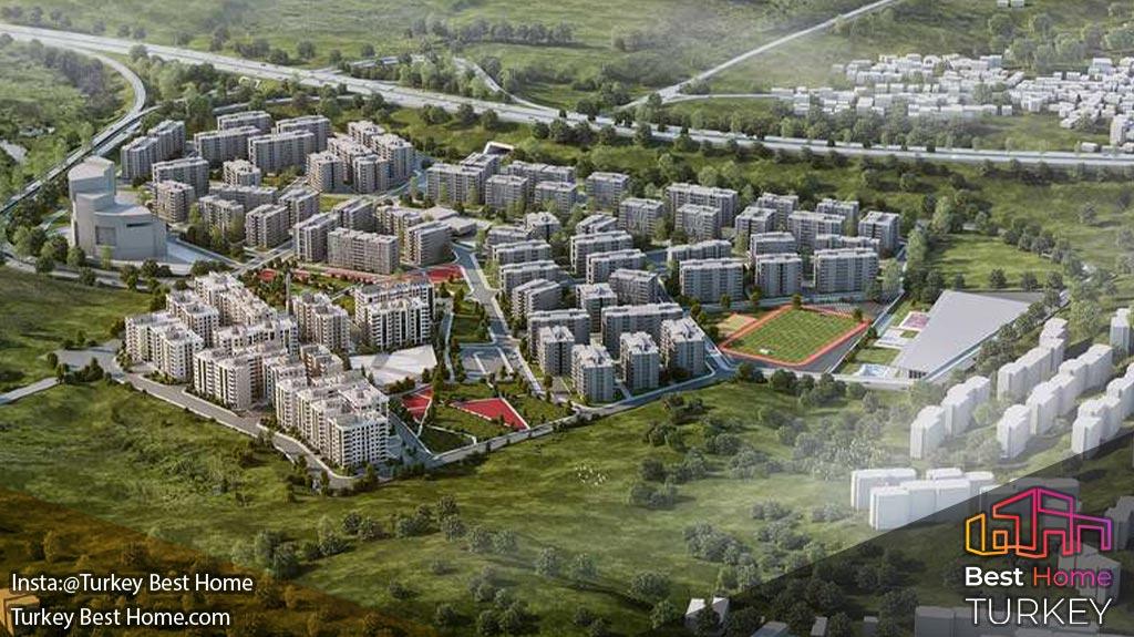 آپارتمان های فروشی ازمیر با نمای طبیعی و نزدیک به فرودگاه شهر