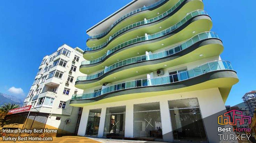 فروش آپارتمان بزرگ 1 خوابه در محموتلار mahmutlar