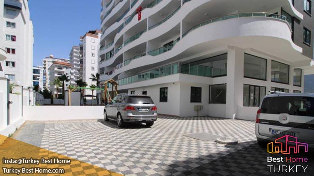 آپارتمان 2 خوابه مدرن با 300 متر فاصله از ساحل محموتلار Mahmutlar