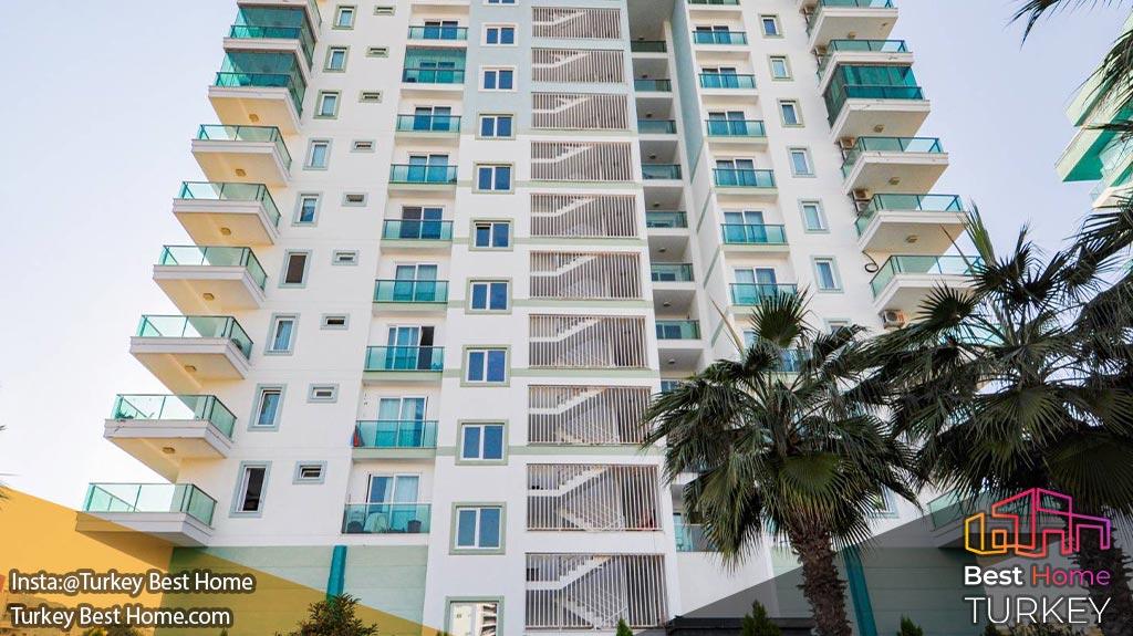 فروش آپارتمان 1 خوابه مدرن نزدیک ساحل در محموتلار Mahmutlar