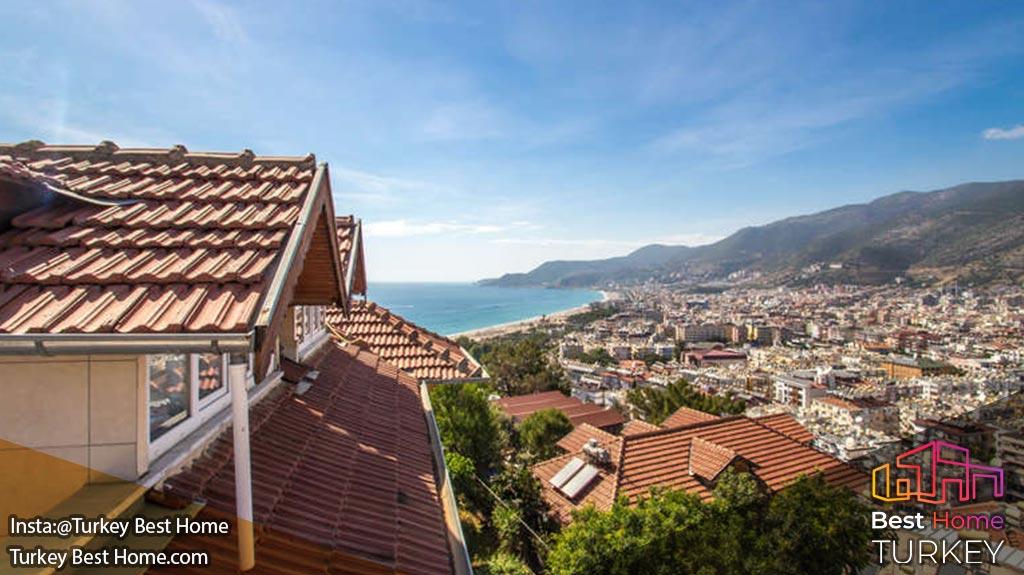 فروش پنت هاوس با منظره ای از ساحل کلئوپاترا در آلانیا