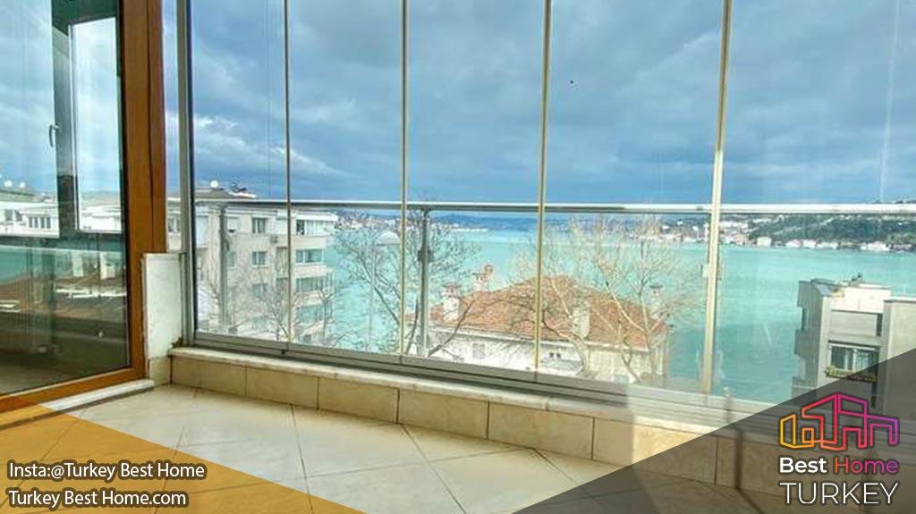 املاک معتبر استانبول با منظره بسفر در روملی حیصاری Rumeli Hisarı