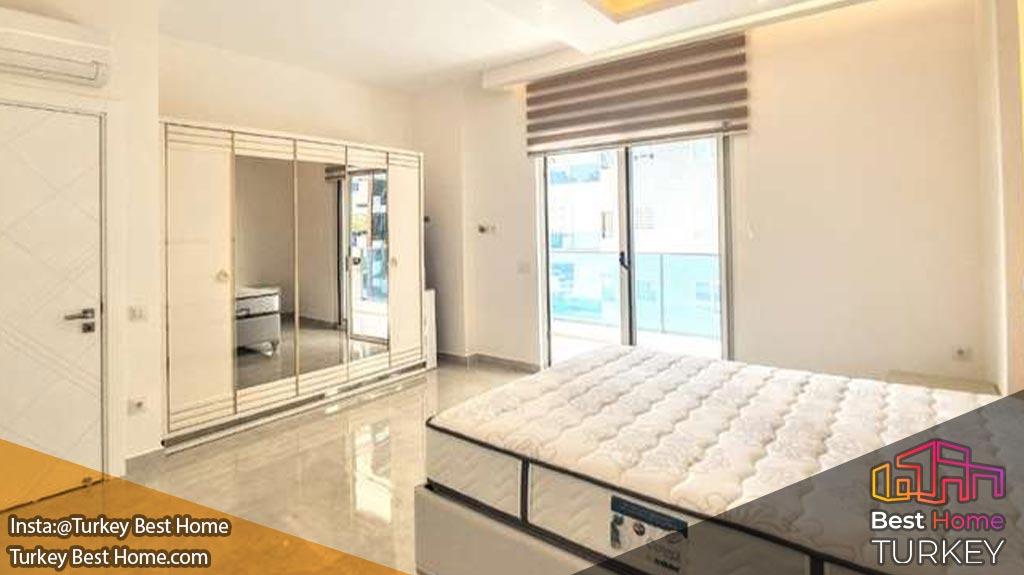 آپارتمان لوکس آپارتمان لوکس 2 خوابه در محموتلار Mahmutlar با فاصله پیاده روی تا ساحل