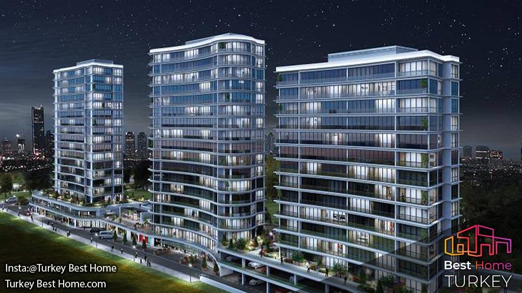 فروش آپارتمان های مدرن استانبول در جاده باسین اکسپرس واقع در باجیلار Bagcilar