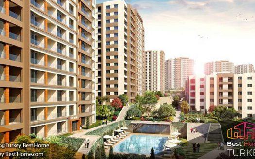 آپارتمانهای استانبول در بیلیکدوزو Beylikduzu با چشم انداز طبیعت