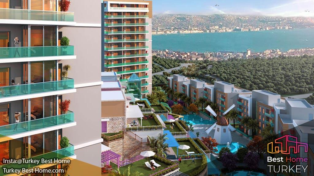 فروش آپارتمانهای لوکس با نمای دریا در کارشیاکا karsiaka