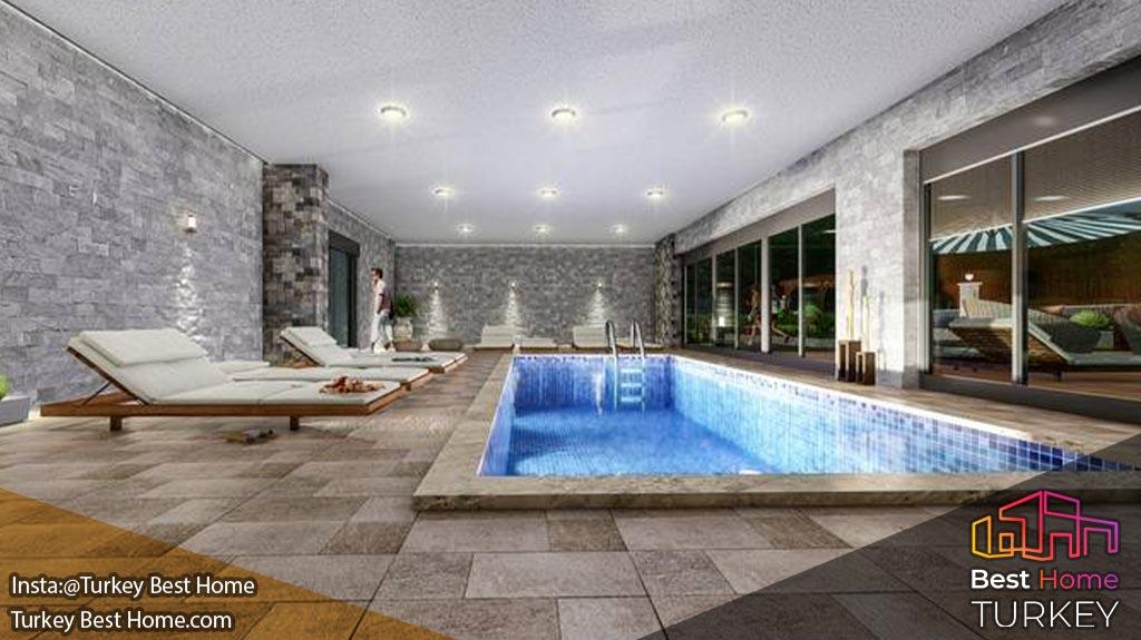 فروش آپارتمانهای مدرن با فاصله 600 متری تا ساحل در محموتلار Mahmutlar