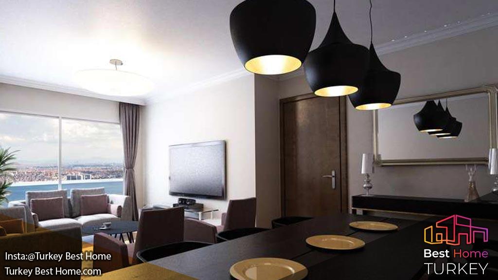 فروش آپارتمان های مدرن نزدیک کانال جدید در کوچوک چکمجه Kucukcekmece
