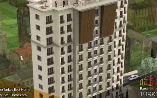 املاک سرمایه گذاری در مرکز شهری استانبول در منطقه کایتحانه Kagithane