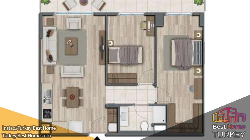 فروش آپارتمان مدرن در استانبول در منطقه اسپارتاکوله Ispartakule با شرایط پرداخت بدون بهره 10 ساله