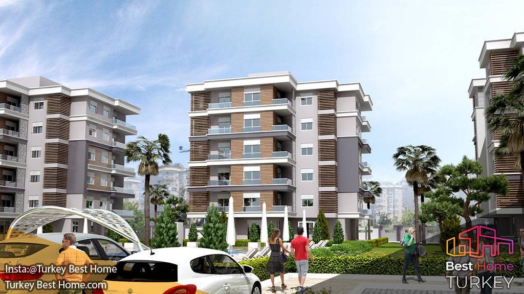 فروش آپارتمان های جدید در کپز Kepez با ارتباطاتی آسان با مرکز شهر آنتالیا