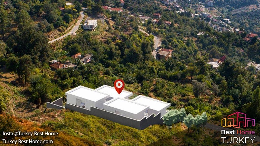 فروش ویلا های لوکس با منظره پانوراما در دامنه تپه در بکتاش Bektas