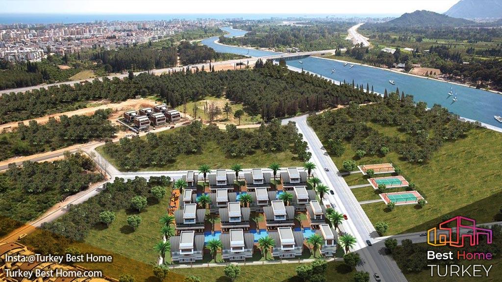 ویلا های لوکس Riverside Marina در آنتالیا برای فروش در کنیالتیKonyaalti